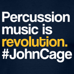 Percussion music is revolution